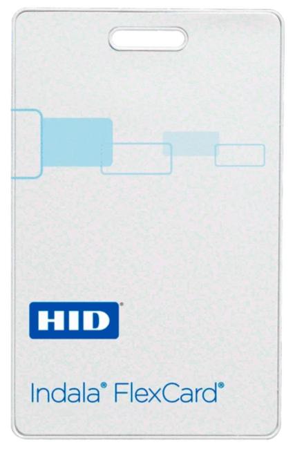 FPCRD-NCSMW-0000 Tarjeta HID Indala FlexCard CLAMSHELL sin contacto Sin Logo No Programada No Imprimible