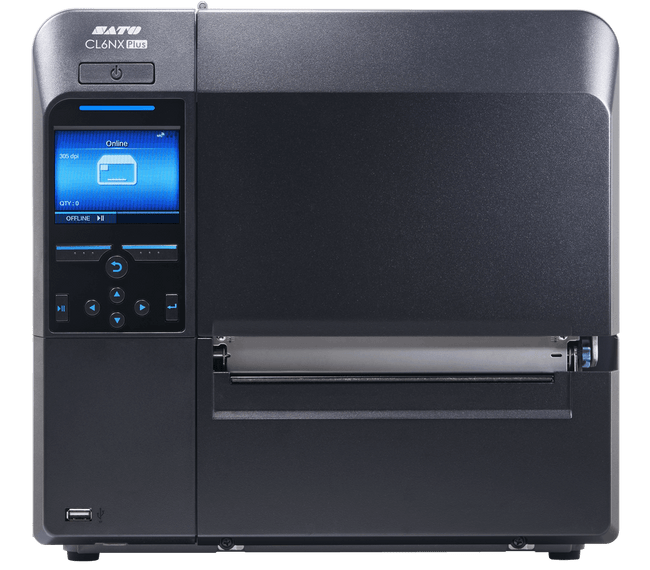 Frontal WWCLPB001 Impresora de Codigos de Barra Sato CL612NX PLUS 305dpi