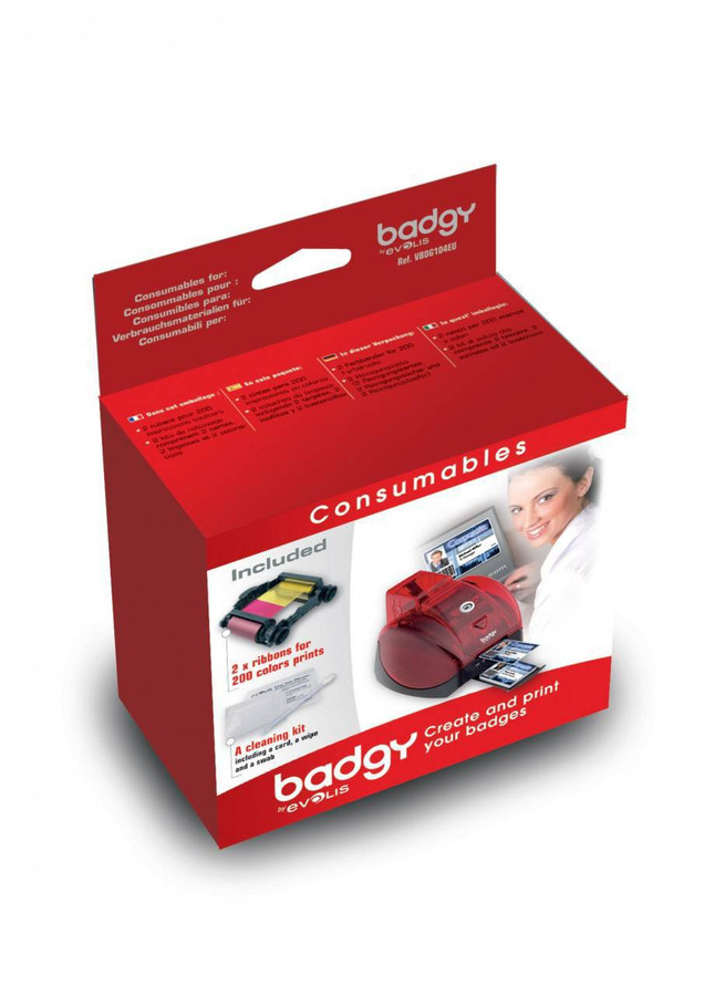 Kit de Cintas Evolis Badgy VBDG104EU