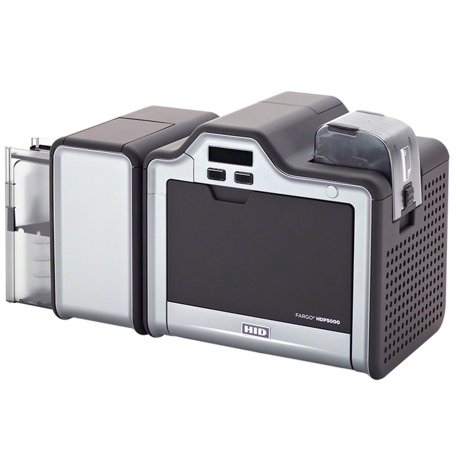 Impresora de Tarjetas de PVC Fargo HDP5000 ISO MSW Lector Proximidad HID & Smart Card Encoder Duplex Dual Side Lamination 89691