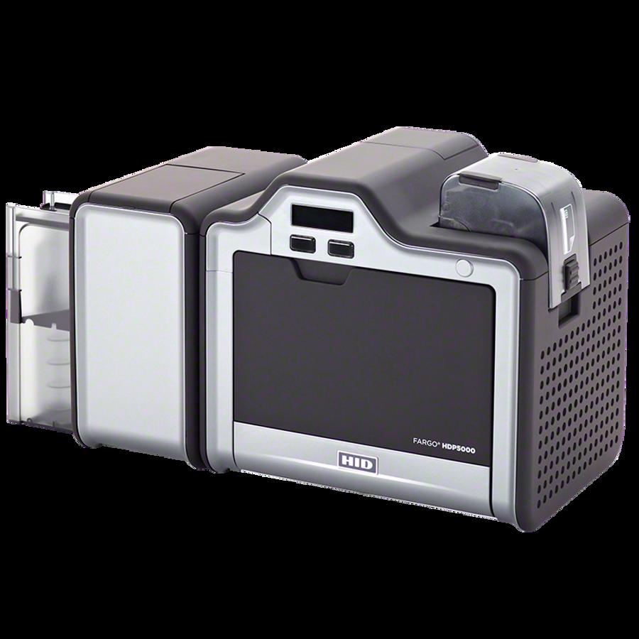Impresora de Tarjetas de PVC Fargo HDP5000 ISO MSW Lector Proximidad HID Omnikey & Smart Card Encoder Duplex Dual Side Lamination 89693