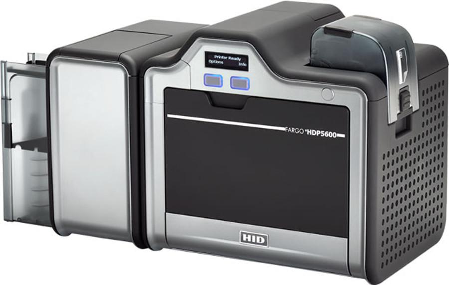 93626 Impresora de Tarjetas de Identificacion Fargo HDP5600 Simplex USB Smart Card iCLASS & HID PROX Omnikey 5127 Laminacion Simplex