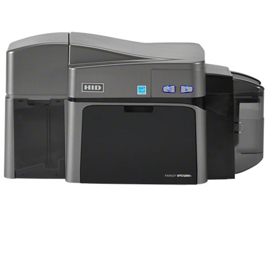 50120 Impresora De Tarjetas de ID Fargo DCT1250e Duplex USB Smart Card Omnikey 5121 & 5125 MSW ISO