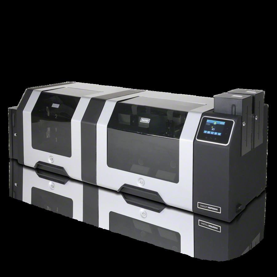 88580 Impresora de Tarjetas ID Fargo HDP8500 HID Prox Omnikey 5125 & Smart Docking Station Con Aplanador Duplex USB ETHERNET