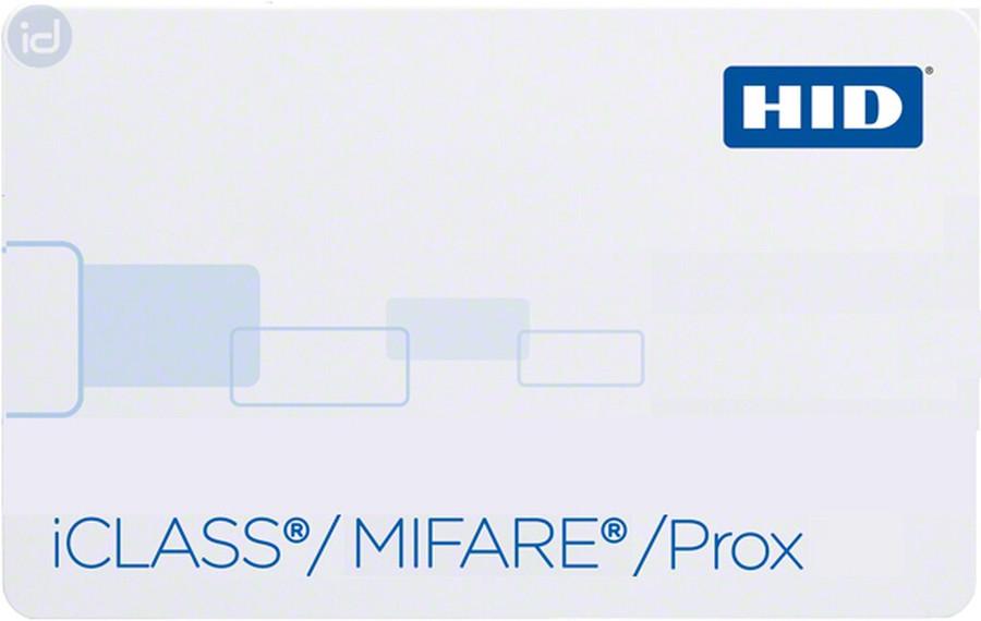 2633xN HID Tarjeta Inteligente iCLASS 32K bit con 2 Areas de Aplicacion & MIFARE 4K Memoria con 40 Sectores + HID PROX
