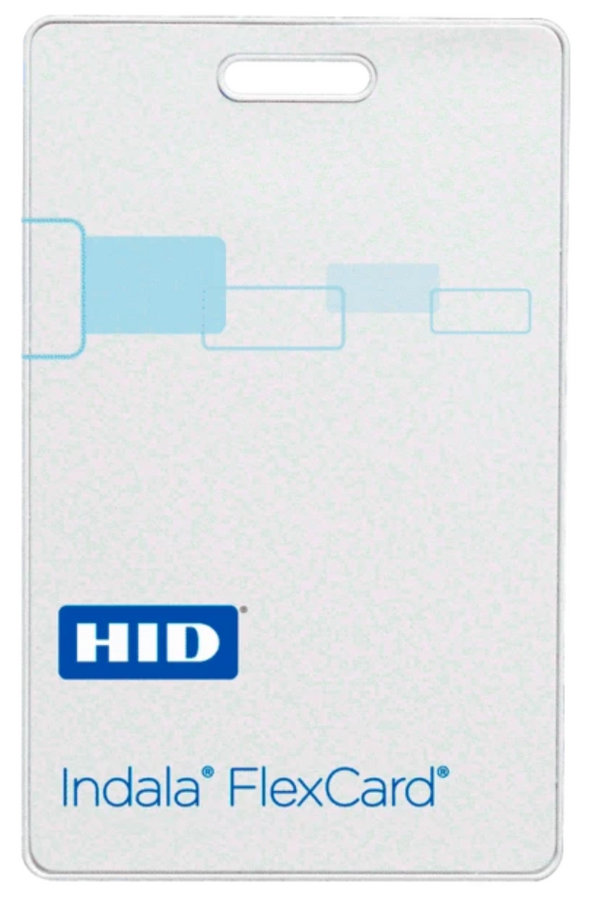 FPCRD-SCSCP-0000 Tarjeta HID Indala FlexCard CLAMSHELL sin contacto Sin Logo No Programada Imprimible