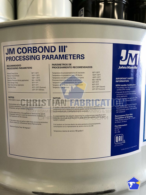 Corbond III Closed Cell Spray Foam