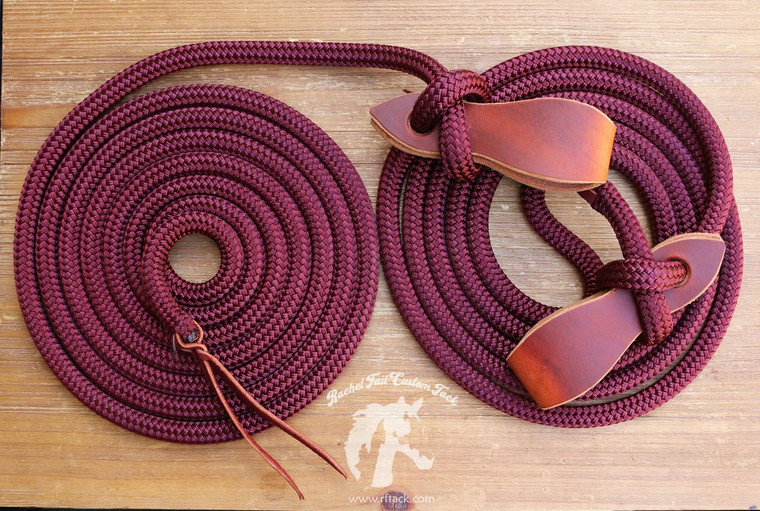 Harness Leather Mecate reins