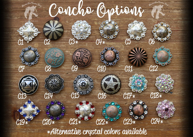 Western Conchos for Tack