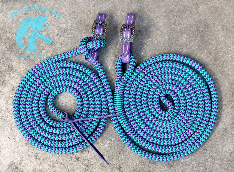 Buckle and Spliced Style Mecate Reins