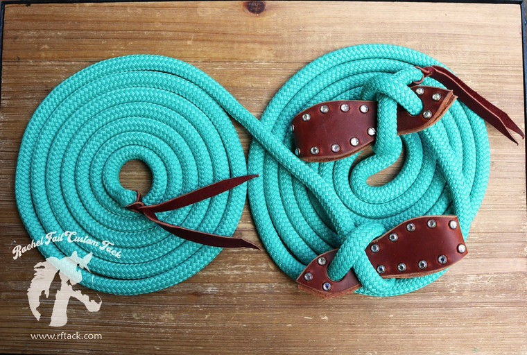 Mecate Reins & Harness Leather Slobber Straps with Rivets