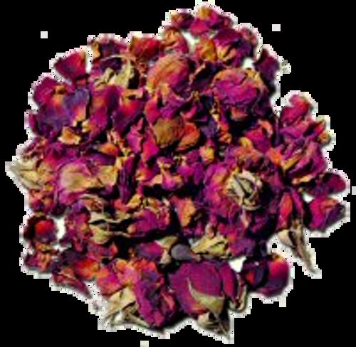 rose buds and rose petals
