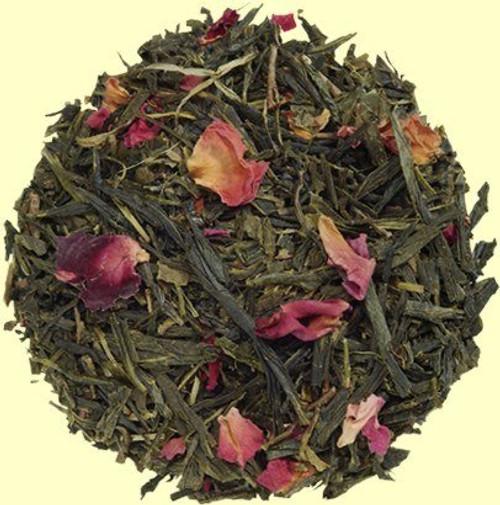 Kyoto cherry rose sencha green loose tea