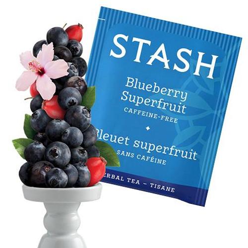 Stash Blueberry Superfruit Herbal Tea tea bags