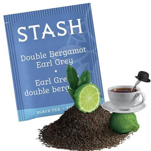Stash Double Bergamot Earl Grey Black Tea bags