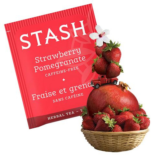 Stash Strawberry Pomegranate Red Herbal Tea bags