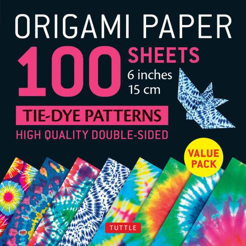 100 Sheets Tie-Dye Pattern Origami Paper