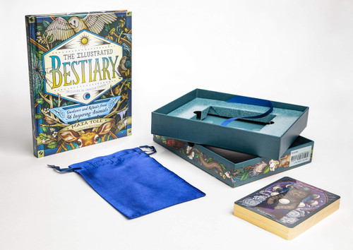 Illustrated Bestiary Collectible Box Set: Guidance and Rituals from 36 Inspiring Animals; Includes Hardcover Book, Deluxe Oracle Card Set, and Carrying Pouch