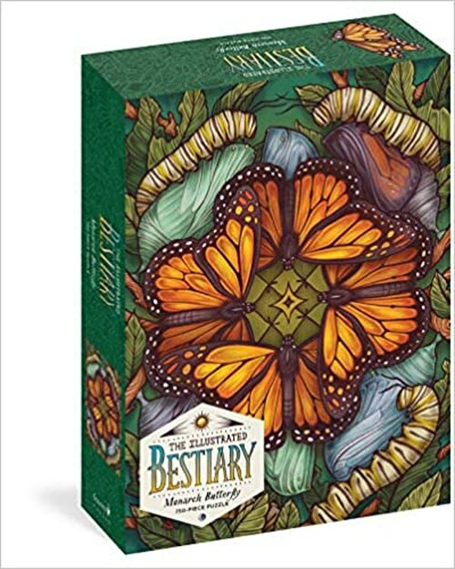 Illustrated Bestiary Monarch Butterfly 750 pc. Puzzle