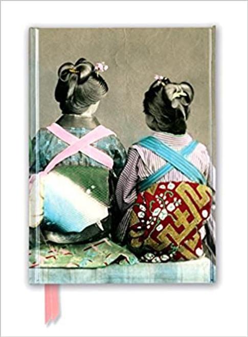 Foiled Journal Japanese Dancers Wearing Traditional Kimonos