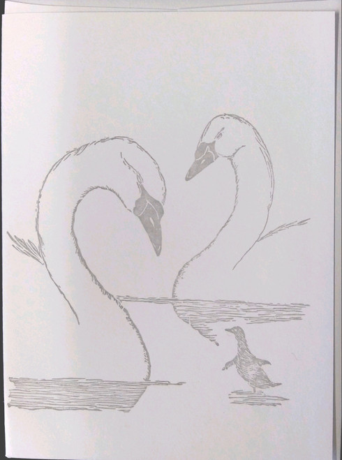Gwen Frostic Swans Greeting Card