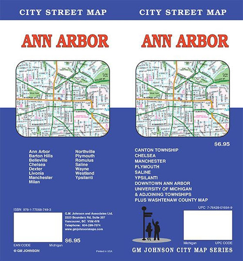 Ann Arbor City Street Map