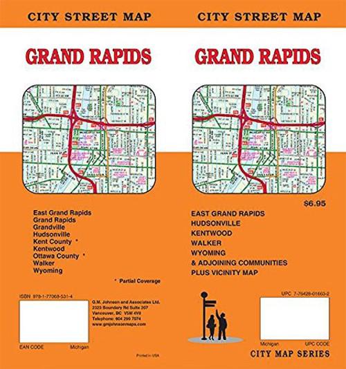Grand Rapids City Street Map