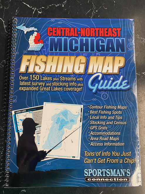 Central-Northeast Michigan Fishing Map Guide