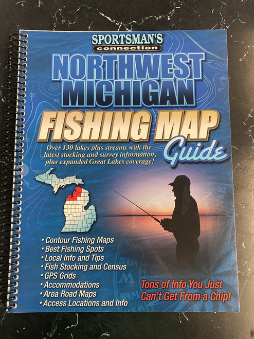 Northwest Michigan Fishing Map Guide-Old Edition
