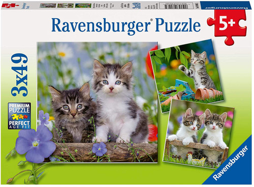 Cuddly Kittens 3 x 49 pc. Puzzles