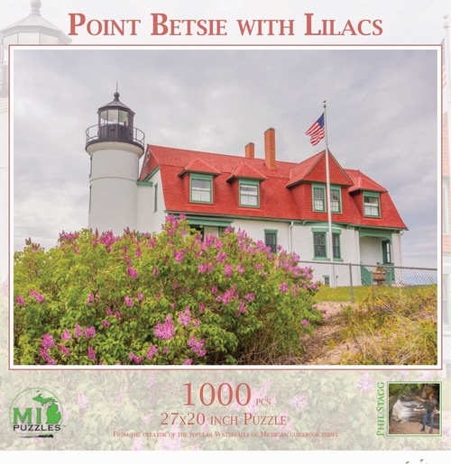 PUZ 1062 Point Betsie with Lilacs