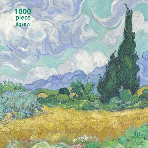 Van Gogh Wheatfield with Cypress 1000 pc Puzzle