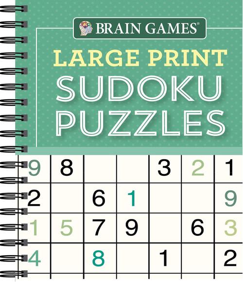 Brain Games - Large Print Sudoku Puzzles