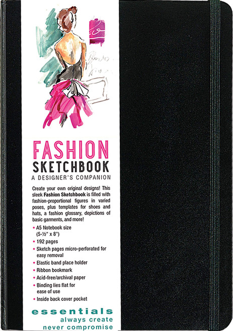 Essentials Fashion Sketchbook (366 Figure Templates to create your own designs!)