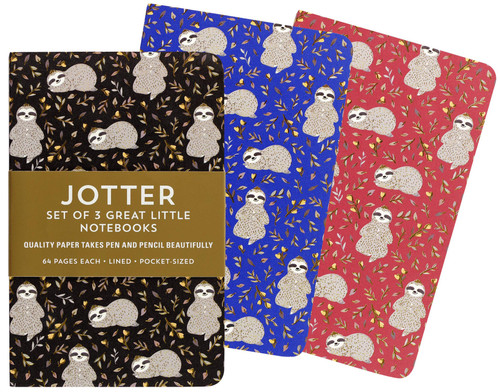 Sloths Mini Notebooks - Set of 3