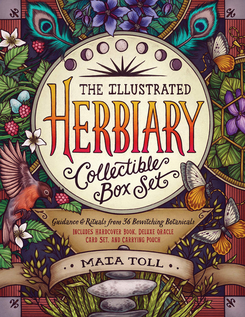 Illustrated Herbiary Collectible Box Set: Guidance and Rituals from 36 Bewitching Botanicals; Includes Hardcover Book, Deluxe Oracle Card Set, and Carrying Pouch