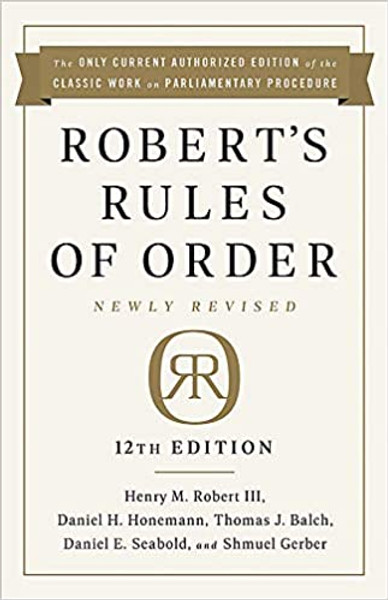 Robert's Rules of Order 12th Ed