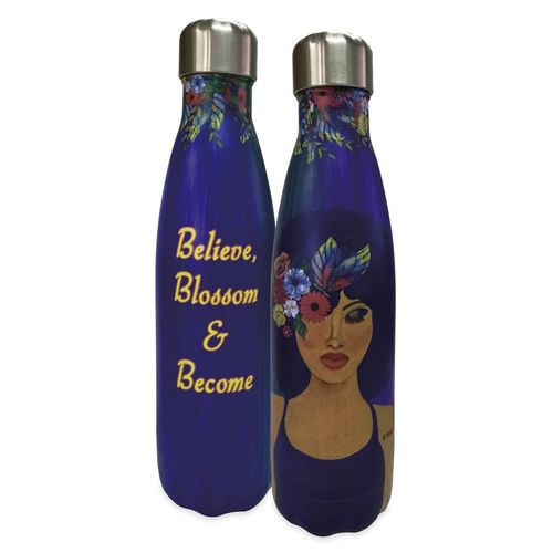 NEW Believe, Blossom and Become Stainless Steel Bottle