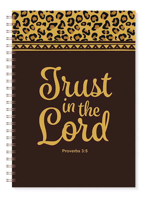 Trust in the Lord Leopard Print Journal