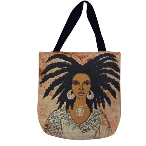 Nubian Queen/Talk To Me Woven Tote Bag