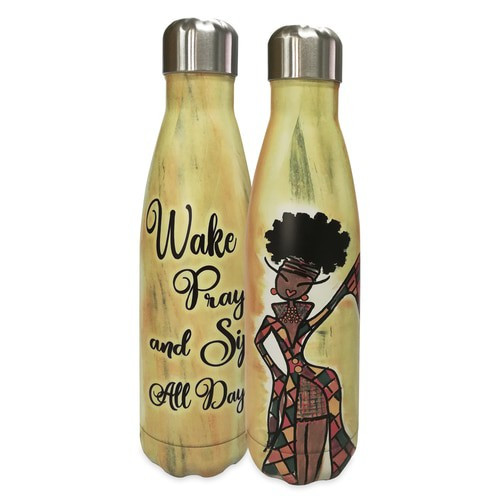 Wake Pray And Sip All Day Stainless Steel Water Bottle