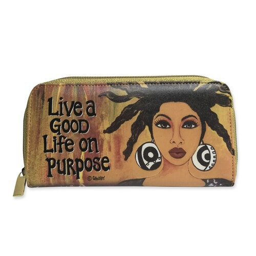 "LIVE A GOOD LIFE ON PURPOSE LONG WALLETS, SYLVIA ""GBABY"" COHEN"