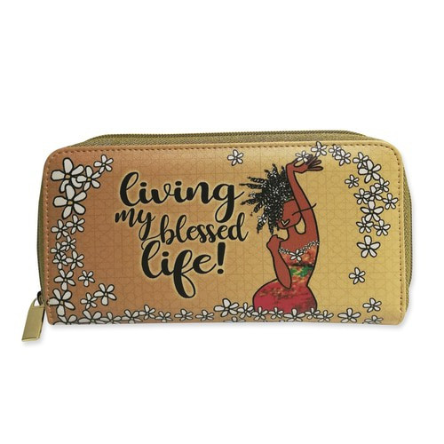 LIVING MY BLESSED LIFE LONG WALLETS, KIWI MCDOWELL