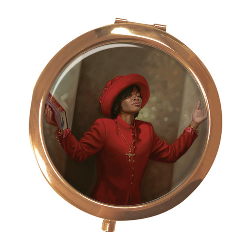 BLESSED & HIGHLY FAVORED COMPACT MIRROR