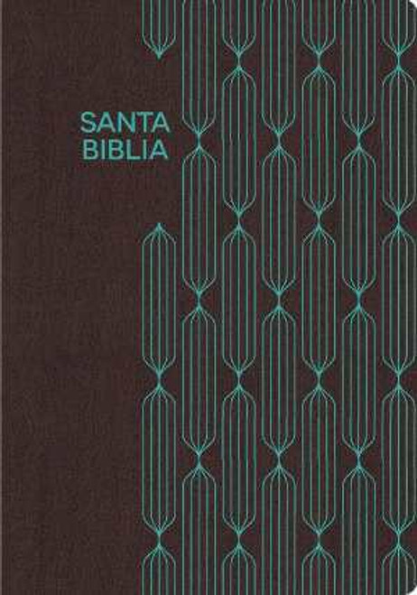 Span-RVR 1960 Gift And Award Bible-Coffee/Turquoise LeatherTouch (Biblia Para Regalos Y Premios)