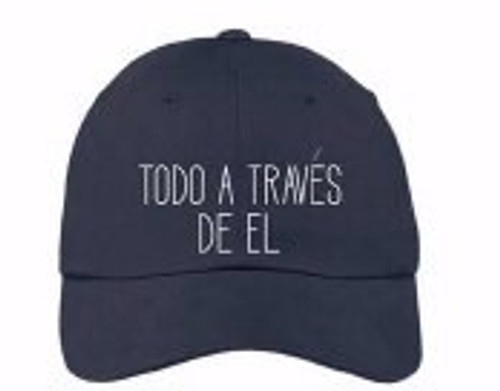 Spanish-Cap-All Things Through Him-Navy