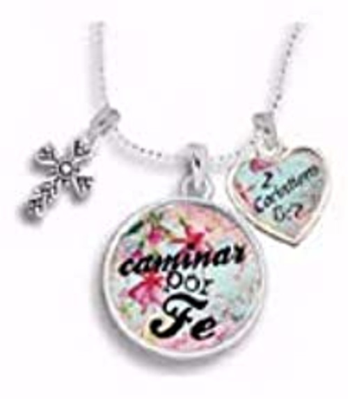Span-Necklace-Cross Charm-Walk by Faith-18 (Spanish)