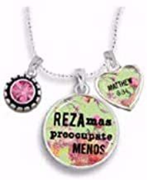 Span-Necklace-Pray More Worry Less-18 (Spanish)