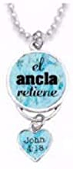 Span-Rearview Mirror Charm-The Anchor Holds (Spanish)