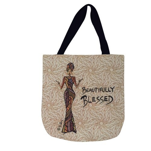 BEAUTIFULLY BLESSED WOVEN TOTE BAG